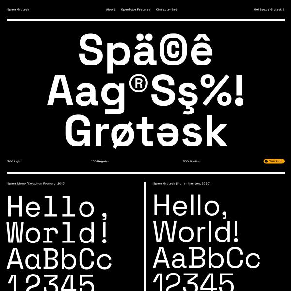 screenshot of Space Grotesk
