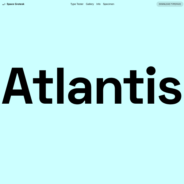 screenshot of Space Grotesk | Florian Karsten Typefaces