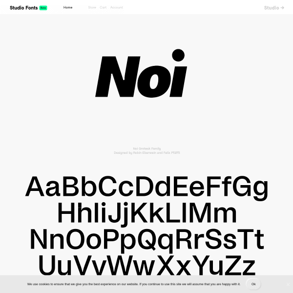screenshot of Noi Grotesk Family