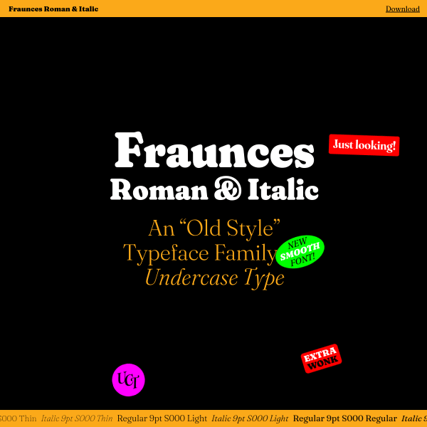 screenshot of Fraunces