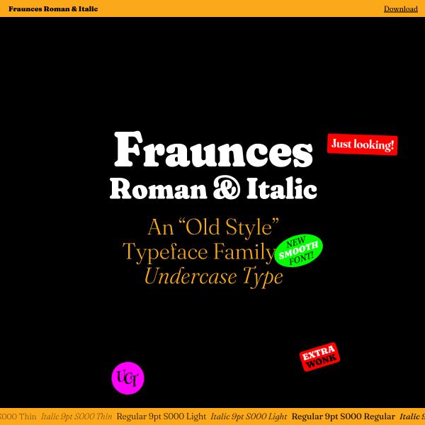 screenshot of Fraunces