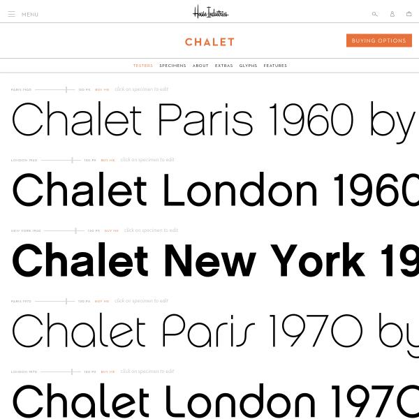 screenshot of Chalet - House Industries