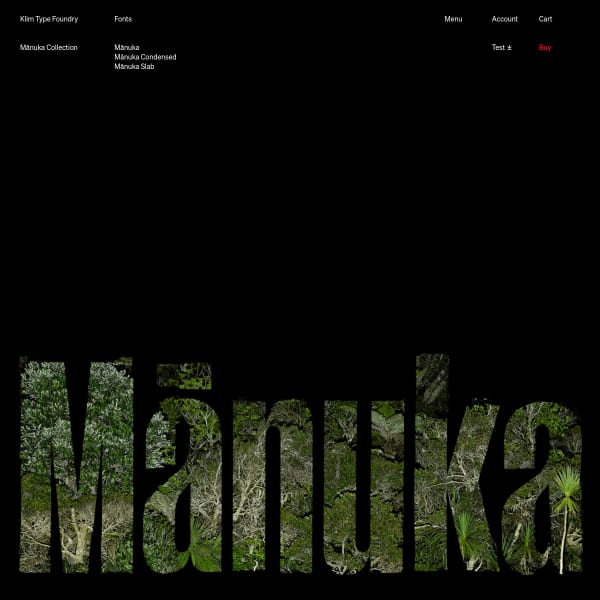 screenshot of Mānuka Collection