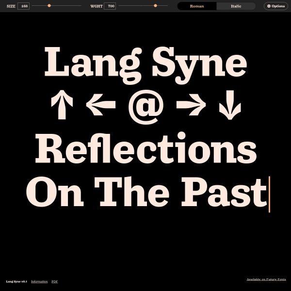screenshot of Lang Syne