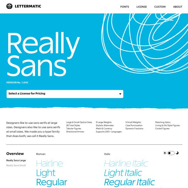 screenshot of Really Sans