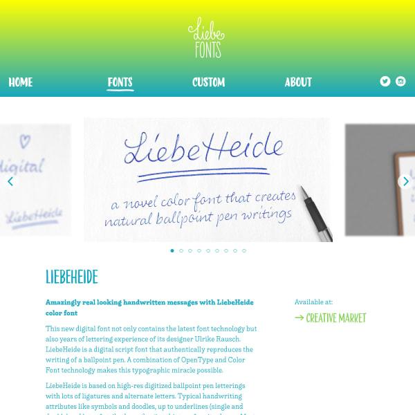 screenshot of LiebeHeide