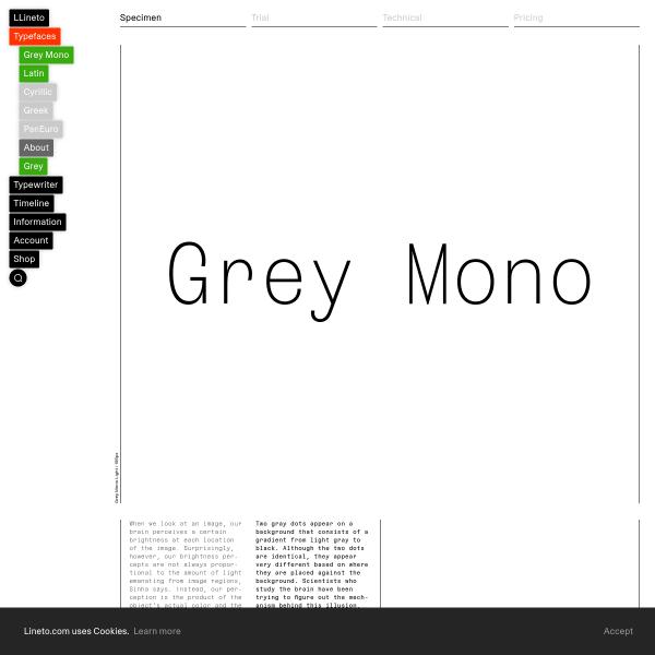 screenshot of Grey Mono