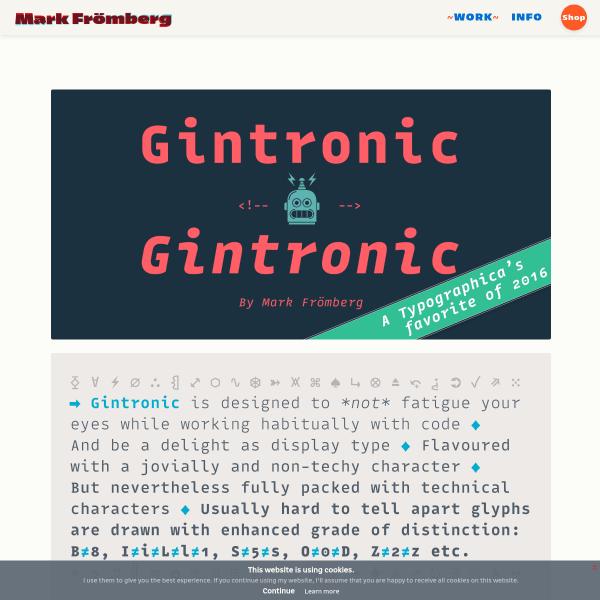 screenshot of Gintronic