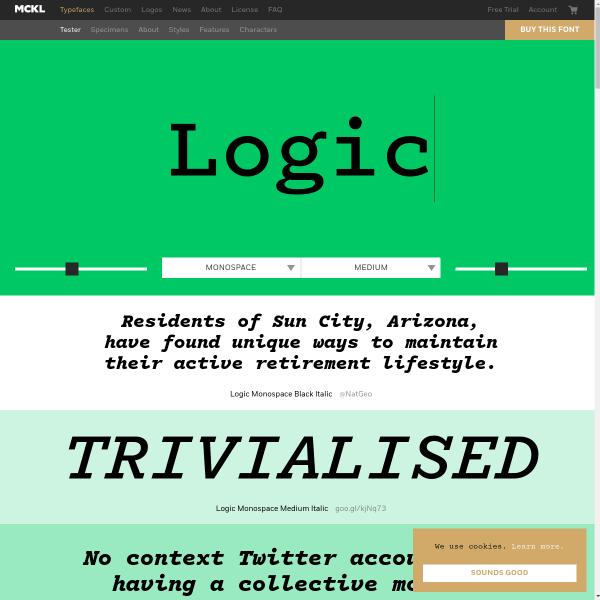 screenshot of Logic Monospace