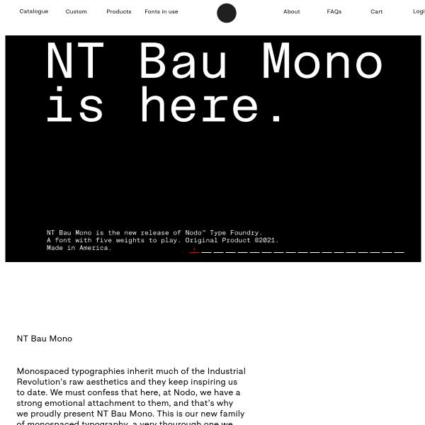 screenshot of Bau Mono