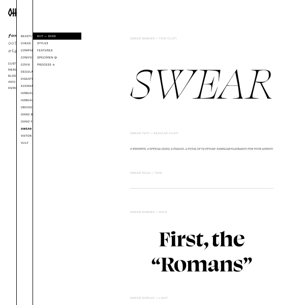 screenshot of Swear