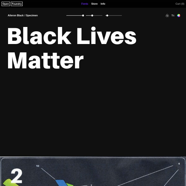 screenshot of Aileron Black