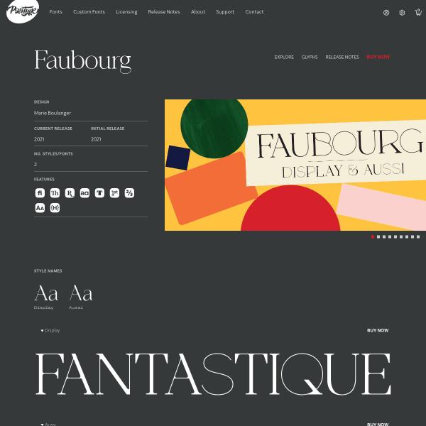 screenshot of Faubourg