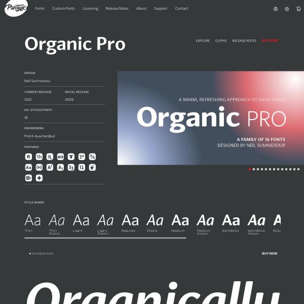 screenshot of Organic Pro