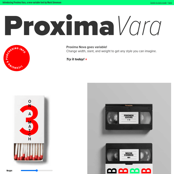 screenshot of Proxima Vara