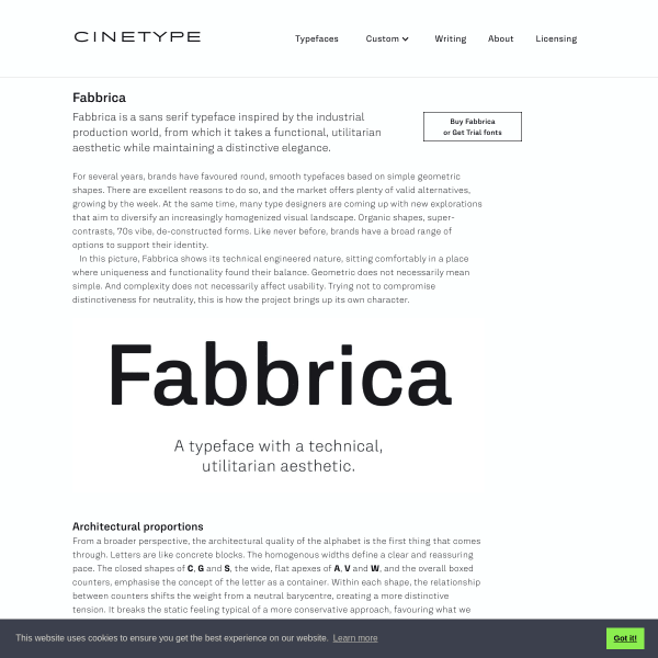 screenshot of Fabbrica