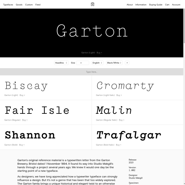 screenshot of Garton