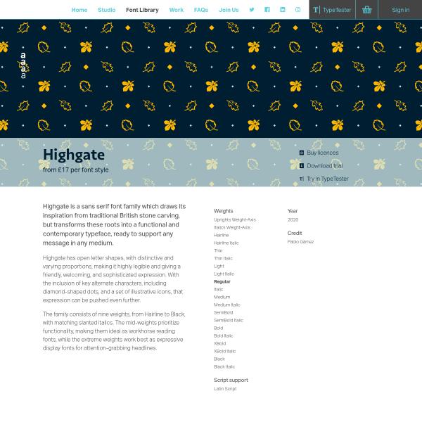 screenshot of Highgate