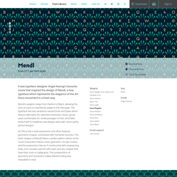 screenshot of Mendl