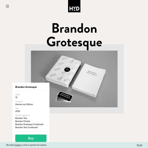 screenshot of Brandon Grotesque