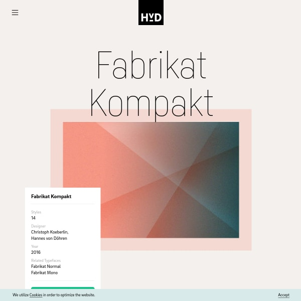 screenshot of Fabrikat Kompakt