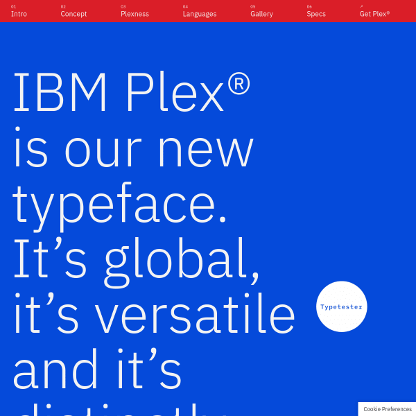 screenshot of IBM Plex