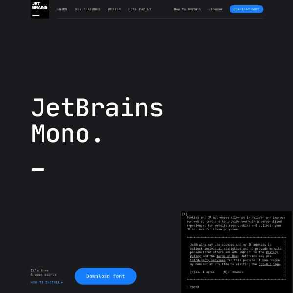 screenshot of JetBrains Mono