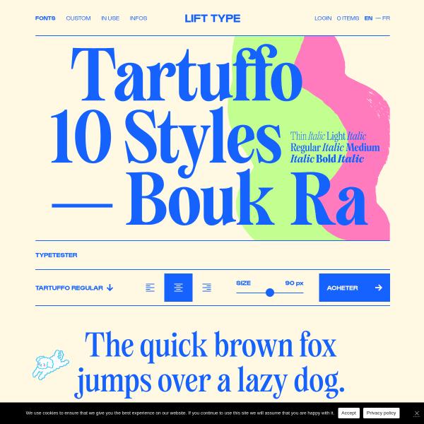 screenshot of Tartuffo