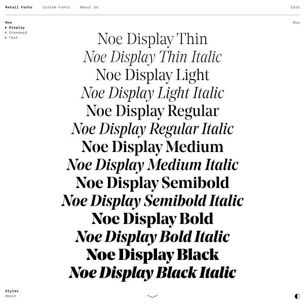 screenshot of Noe Display