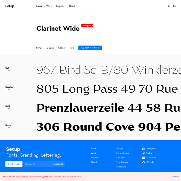 screenshot of Clarinet Wide