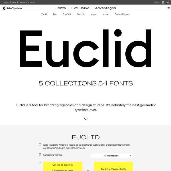 screenshot of Euclid