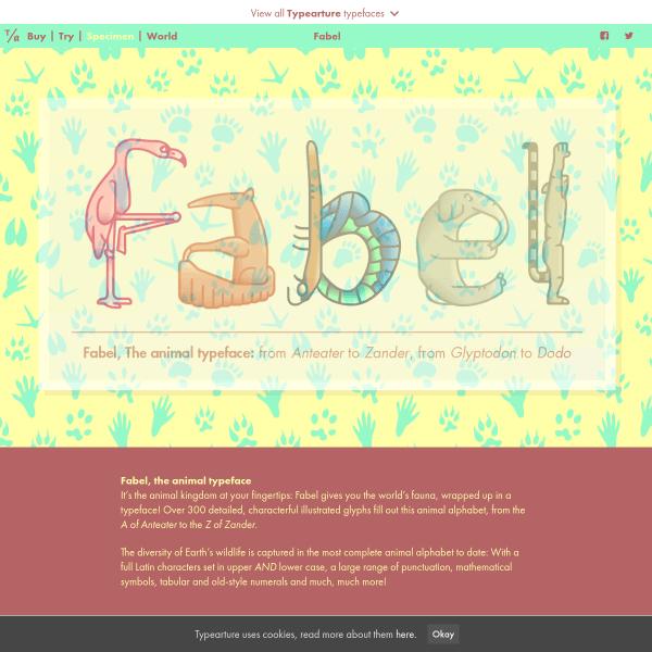 screenshot of Fabel, the animal alphabet