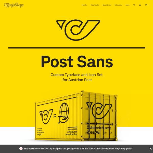 screenshot of Post Sans