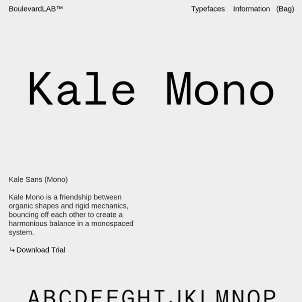 Screenshot of Kale Mono