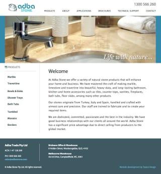 Adba Stone website screenshot