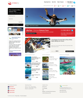 AdventureFree website screenshot