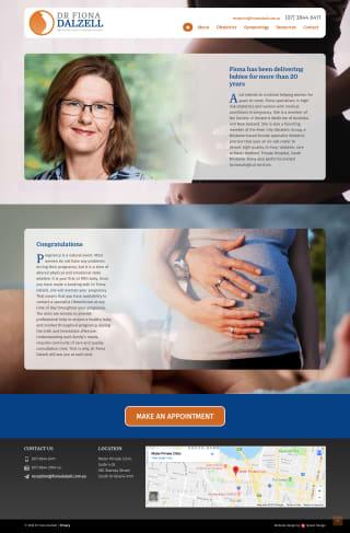 Dr Fiona Dalzell website screenshot