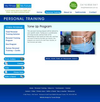 My Fitness = My Future website screenshot