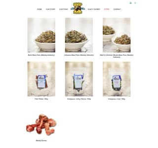 Food of the Dogs website screenshot