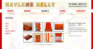 Kaylene Kelly website screenshot