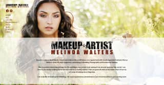 Melinda Makeup website screenshot