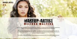 Melinda Makeup website screenshot