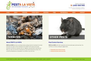 Pest'a La Vista website screenshot
