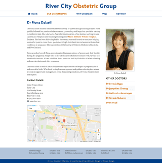 River City Obstetric Group website screenshot