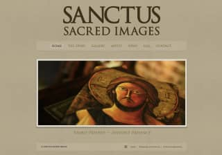 Sanctus Sacred Images website screenshot