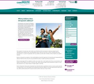 South East Chiropractic website screenshot