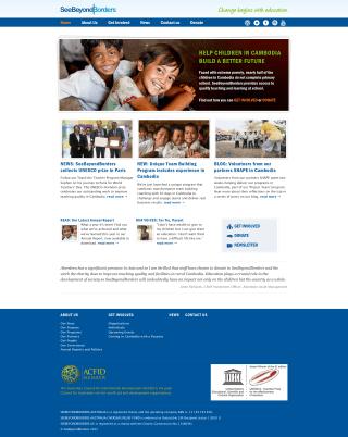 See Beyond Borders website screenshot
