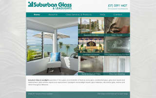 Suburban Glass website screenshot