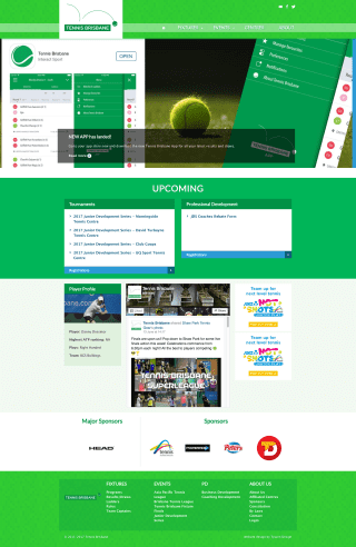 Tennis Brisbane website screenshot