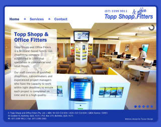 Topp Shopp and Office Fitters website screenshot